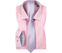 Herren Hemd mit Krawatte rosa