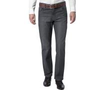 Herren Jeans Baumwoll-Stretch dunkelgrau