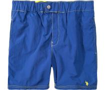 Herren Bademode Bade-Short Nylon blau