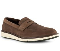 Schuhe Slipper Nubukleder wassertauglich dunkel