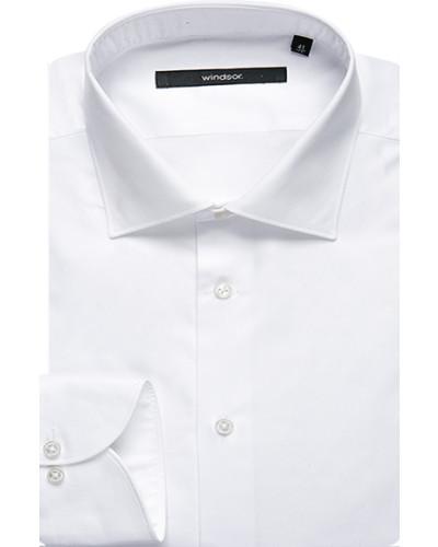 Herren Hemd Regular Fit Twill weiß