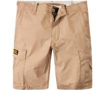 Herren Hose Shorts, Baumwolle, camel beige