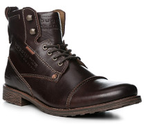 Herren Schuhe Stiefeletten Leder dunkelbraun