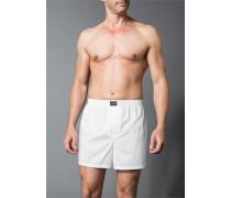 Herren Unterwäsche Boxershorts, Baumwolle, weiß
