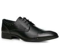Herren Schuhe Derby, Glattleder, schwarz