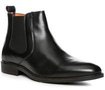 Herren Schuhe Chelsea Boots, Leder, schwarz
