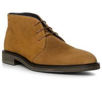 Herren Schuhe Desert Boots, Veloursleder, caramel braun