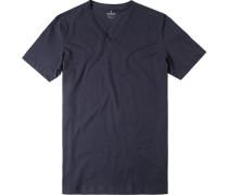 Herren T-Shirt Baumwolle marine