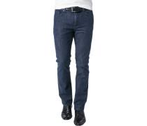 Herren Jeans, Baumwoll-Stretch, indigo blau