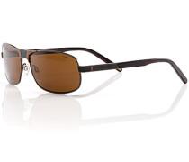 Herren Brillen Sonnenbrille, Metall-Kunststoff, braun