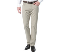Herren Jeans Regular Fit Baumwoll-Stretch sand beige