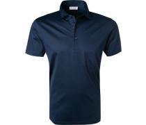 Polo-Shirt Baumwoll-Jersey navy