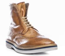 Herren Schuhe Stiefeletten Leder hellbraun braun,braun