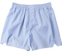 Herren Unterwäsche Boxershorts Baumwolle hellblau gestreift