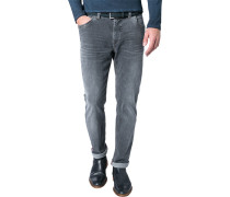 Herren Jeans Modern Fit Baumwoll-Stretch Superflex grau