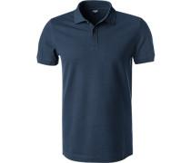 Herren Polo-Shirt, Modern Fit, Baumwoll-Piqué, navy blau