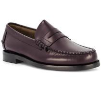 Schuhe Loafer Leder rot