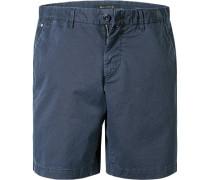 Herren Hose Bermudashorts, Regular Fit, Baumwolle, marine blau