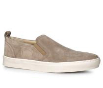 Herren Schuhe Slipper Leder beige