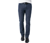 Herren Jeans Baumwoll-Stretch indigo