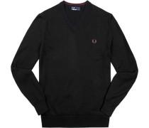 Herren Pullover Baumwolle schwarz