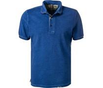 Polo-Shirt Baumwoll-Piqué royal