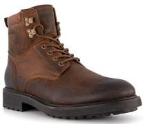 Schuhe Boots Leder warmgefüttert cognac