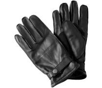 Herren  Handschuhe Leder gefüttert schwarz