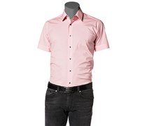 Herren Hemd Popeline-Stretch rosé rosa