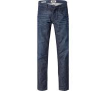 Jeans Slim Fit Baumwolle dunkel