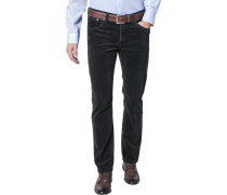 Herren Cord-Jeans Modern Fit Baumwoll-Stretch anthrazit