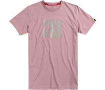 Herren T-Shirt Baumwolle altrosa