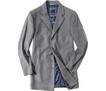 Herren Mantel Woll-Kaschmir-Mix hellgrau grau,blau
