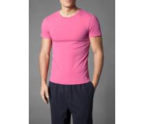 Herren T-Shirt Baumwoll-Mix pink rosa