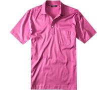 Herren Polo-Shirt Regular Fit Baumwoll-Jersey orchidee rosa