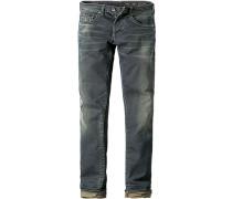 Herren Jeans Slim Fit Baumwoll-Stretch 9,5 oz jeansblau