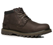 Herren Schuhe Schnürstiefeletten Nubukleder dunkelbraun braun,braun