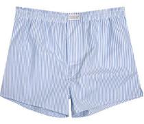 Herren Unterwäsche Boxer-Shorts Popeline hell-weiß gestreift