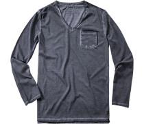 Herren Shirt Cirafa Baumwolle jeansblau