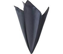 Herren Accessoires Einstecktuch, Seide, grau-schwarz kariert