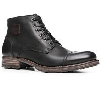 Herren Schuhe Stiefelette Kalbnappa schwarz
