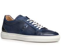 Herren Schuhe Sneaker, Kalbleder, blau