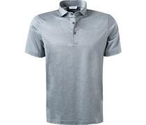 Polo-Shirt Baumwoll-Jersey hell meliert
