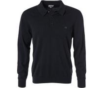 Herren Polo-Shirt, Baumwolle, schwarz