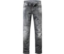 Herren Jeans Slim Fit Baumwoll-Stretch dunkel