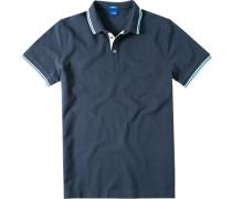 Herren Polo-Shirt Modern Fit Baumwoll-Piqué navy blau