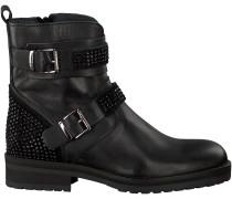 Schwarze Hip Biker Boots H1847