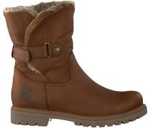 Cognac Panama Jack Biker Boots FELIA