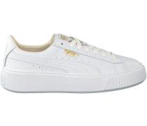 Weiße Puma Sneaker BASKET PLATFORM CORE