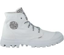 Weisse Palladium Boots PAMPA HIGH D